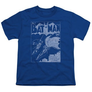Batman/Issue 1 Cover Short Sleeve Youth 18/1 in Royal
