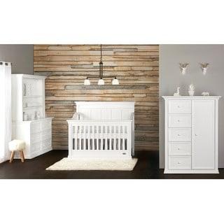 Evolur Napoli Distressed White 5-in-1 Convertible Crib