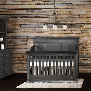 Evolur Napoli Black Wood 5 in 1 Convertible Crib