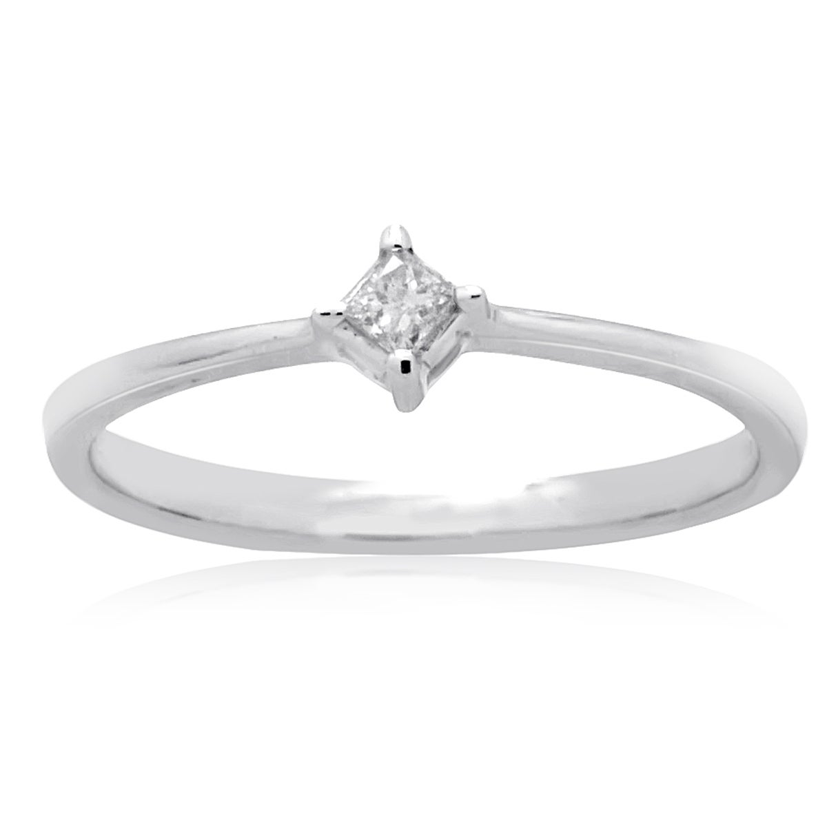 14k White Gold Princess-cut Diamond Accent Promise Solita...
