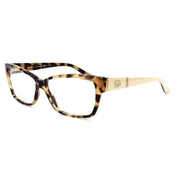 7750e5f252c Shop Gucci 3559 0L7B Womens Rectangular Eyeglasses - Tortoise - Free ...