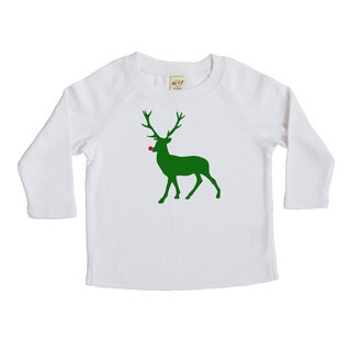 "Rocket Bug ""Deer with Red Nose"" Baby Bodysuit and Toddler T-Shirt"
