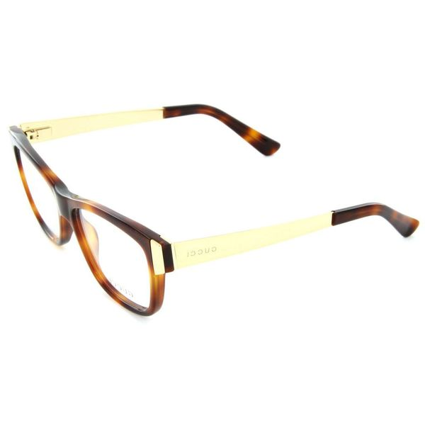 e28f4a9047c Shop Gucci 3719 0CRX Womens Rectangular Eyeglasses - Brown - Free ...
