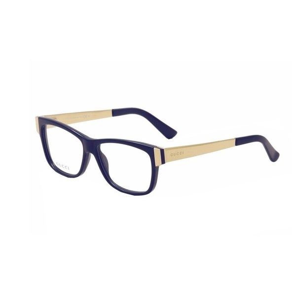 f81b0694614 Shop Gucci 3719 0KY2 Womens Rectangular Eyeglasses - Blue - Free ...