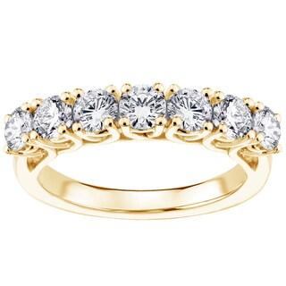 14k/18k Yellow Gold 1 1/4ct TDW Brilliant-cut Braided Diamond Wedding Band (G-H, SI1-SI2)