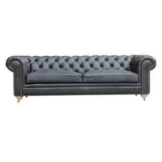 Caribou Dane Chesterfield Black Tufted Sofa