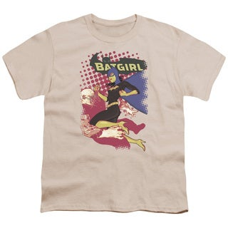 Batman/Batgirl Crunch Short Sleeve Youth 18/1 in Cream