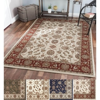 Admire Home Living Amalfi Ivory/Blue/Green Olefin Oriental Area Rug (5'5 x 7'7)