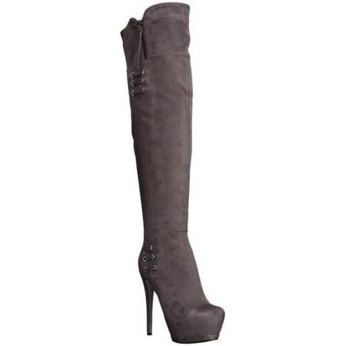 Luichiny Women's May La High-Heel Platform Over-the-Knee Boots