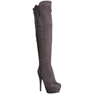 Luichiny Women's May La High-Heel Platform Over-the-Knee Boots