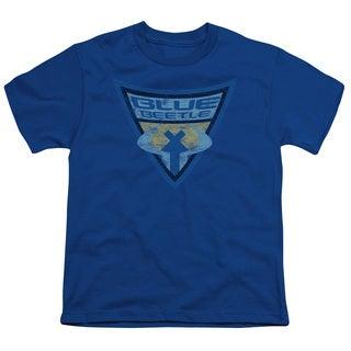 Batman Bb/Blue Beetle Shield Short Sleeve Youth 18/1 in Royal