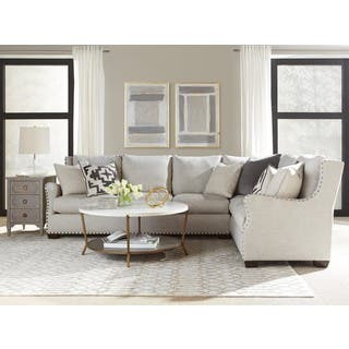 Connor Curved Back Belgian Linen Sectional Sofa with Ultra Plush Down  Blended CushionsSectional Sofas   Shop The Best Deals for Nov 2017   Overstock com. Sectional Living Room Furniture. Home Design Ideas