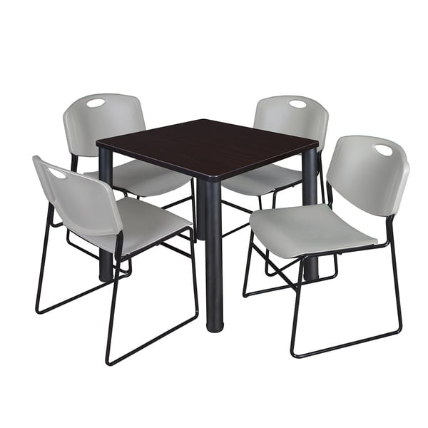 kee multicolored laminate 30 inch square breakroom table and chairs 5 piece set free. Black Bedroom Furniture Sets. Home Design Ideas