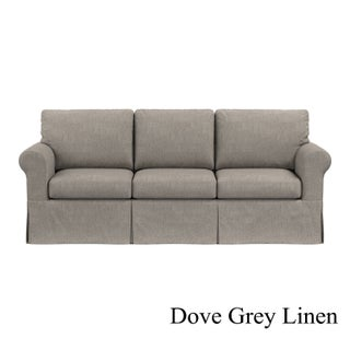 Handy Living Undercover Custom Bella SoFast Sofa with Skirted Slipcover