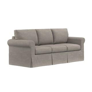 Handy Living Undercover Custom Bella SoFast Sofa with Skirted Slipcover
