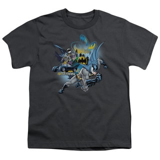 Batman/Call Of Duty Short Sleeve Youth 18/1 in Charcoal