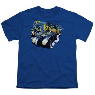 Batman/Batmobile Short Sleeve Youth 18/1 in Royal