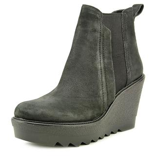 Vince Camuto Women's Danisa' Platform Wedge Bootie Black Leather Boots