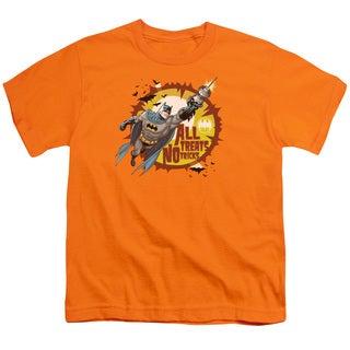 Batman/All Treats Short Sleeve Youth 18/1 in Orange