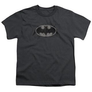Batman/Arcane Bat Logo Short Sleeve Youth 18/1 in Charcoal