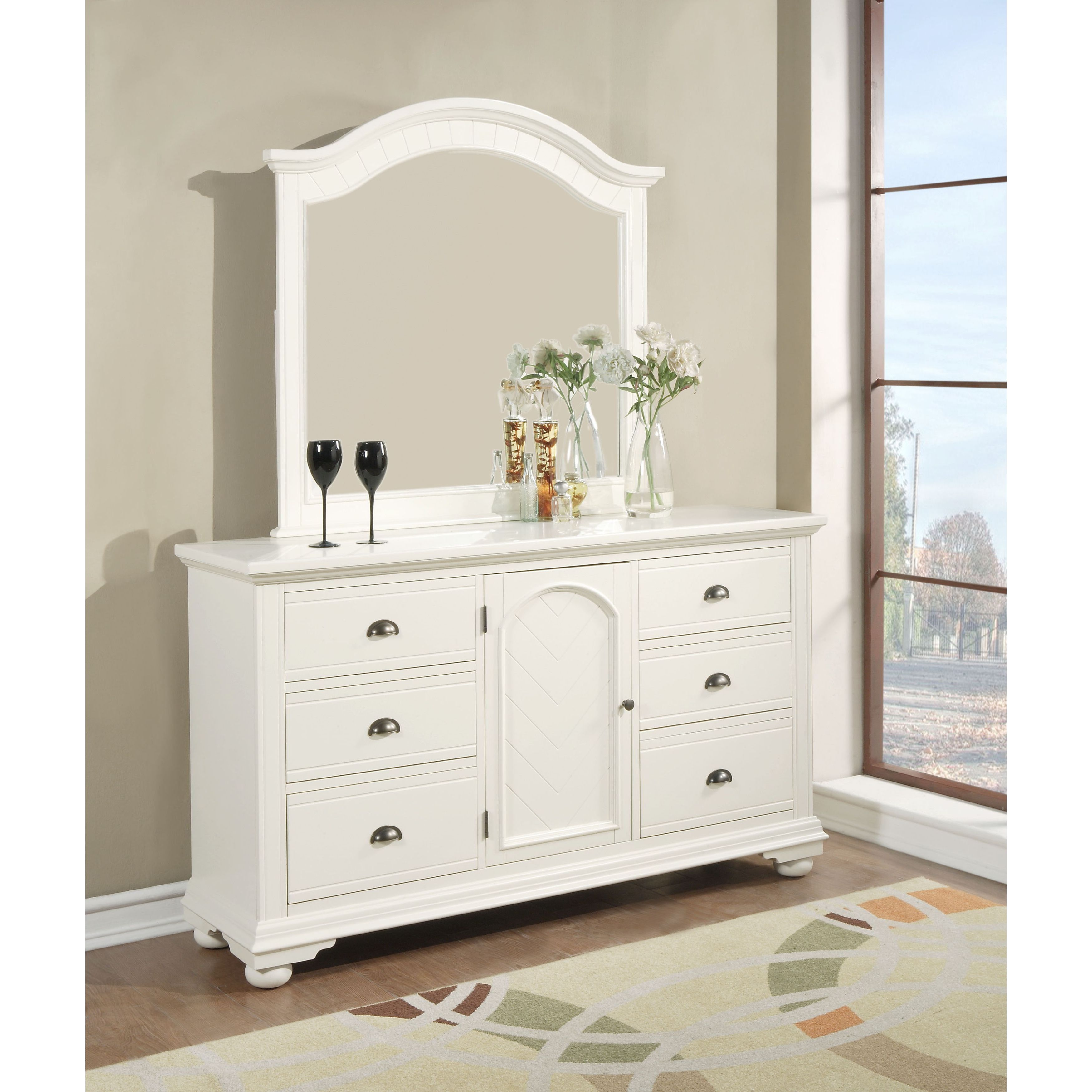 Picket House Furnishings Addison White Dresser Mirror Set Overstock 12818298
