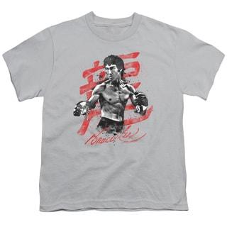 Bruce Lee/Ink Splatter Short Sleeve Youth 18/1 Silver