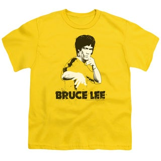 Bruce Lee/Suit Splatter Short Sleeve Youth 18/1 in Yellow