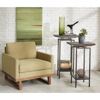 INK+IVY Metro Green Lounger Arm Chair