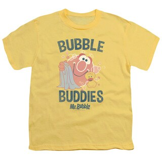 Mr Bubble/Bubble Buddies Short Sleeve Youth 18/1 in Banana/Trans Yellow