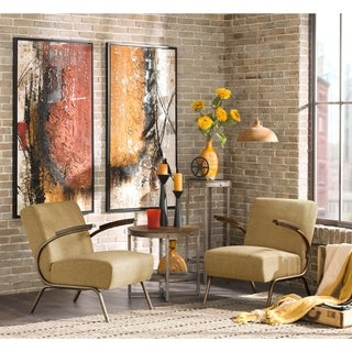 INK+IVY Melrose Yellow Club Lounge Arm Chair