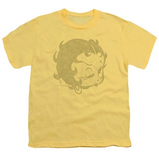 Boop/Hey There Short Sleeve Youth 18/1 in Banana