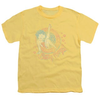Boop/Classy Dame Short Sleeve Youth 18/1 in Banana