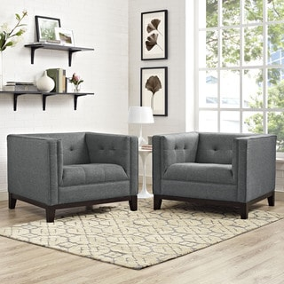 Serve Set of 2 Tufted Armchairs