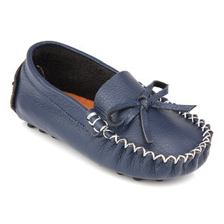 Augusta Baby Children's Navy-blue Genuine Leather Loafers