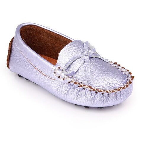 Augusta Baby Girls' Lavender Leather Loafers