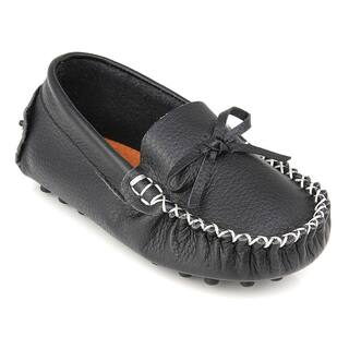 Augusta Baby Children's Black Genuine Leather Loafers|https://ak1.ostkcdn.com/images/products/12818705/P19586703.jpg?impolicy=medium