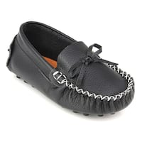 Augusta Baby Children's Black Genuine Leather Loafers