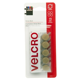 """Velcro 90071 5/8"""" Beige Sticky Back Coins 15-count"""