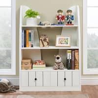 Furniture of America Miranda Cottage White Multi-storage Open Bookshelf