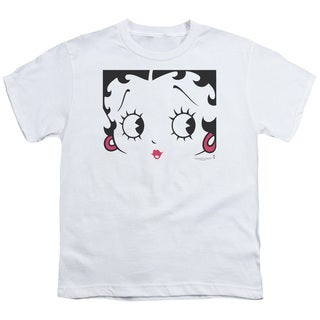 Boop/Close Up Short Sleeve Youth 18/1 in White