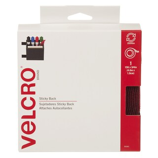 "Velcro 90085 3/4"" X 15' Red Sticky Back Tape"