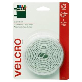 """Velcro 90087 3/4"""" X 5' White Sticky Back Tape"""