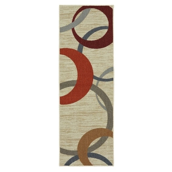 Mohawk Soho Picturale Rainbow Runner Rug 1 8 X 5 Beige Grey Red On Free Shipping Orders Over 45 12818906