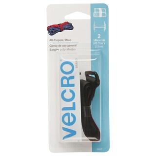 """Velcro 90107 18"""" x 1"""" Black All Purpose Strap 2-count"""
