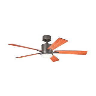 Kichler Lighting Lucian Collection 52-inch Olde Bronze Ceiling Fan w/Light
