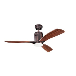 Kichler Lighting Ridley Collection 52-inch Oil Brushed Bronze Ceiling Fan w/Light