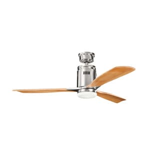 Kichler Lighting Ridley Collection 52-inch Brushed Stainless Steel Ceiling Fan w/Light