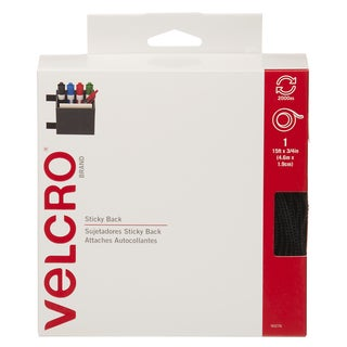 "Velcro 90276 3/4"" X 15' Black Sticky Back Tape"