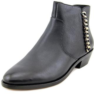 Coach Women's Corine Black Leather Ankle Boots