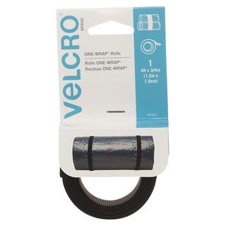 "Velcro 90302 3/4"" X 4' Black ONE-WRAP Roll"